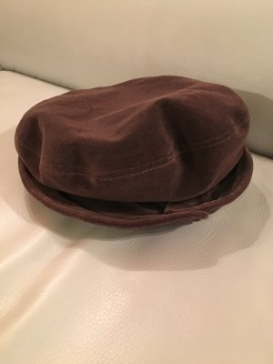 Cappello a falde larghe marrone-cognac