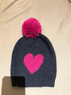 Mütze Herz Bommel Beanie