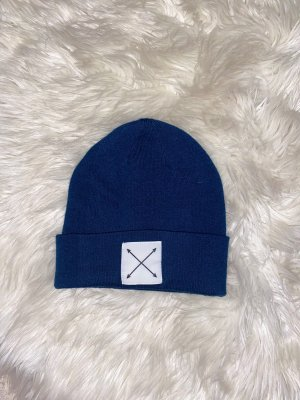 H&M Cappello a maglia blu scuro-blu