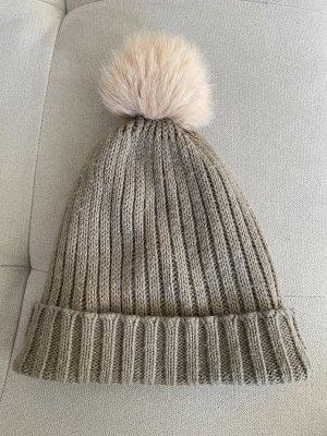 s.Oliver Knitted Hat grey-dusky pink