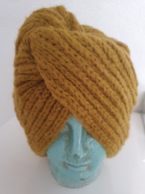 Promod Knitted Hat ocher-olive green