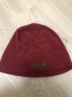 Jack Wolfskin Sombrero de tela burdeos
