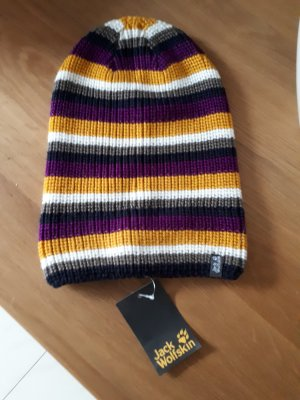 Jack Wolfskin Chapeau en tricot multicolore