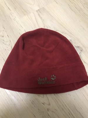 Jack Wolfskin Cappello in tessuto bordeaux