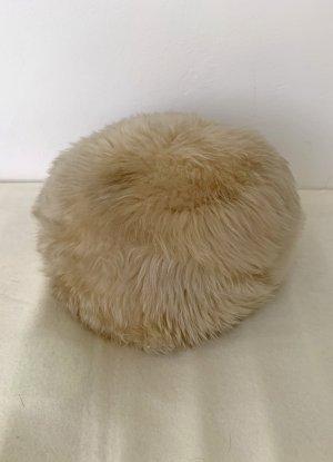 Futrzana czapka piaskowy brąz Futro