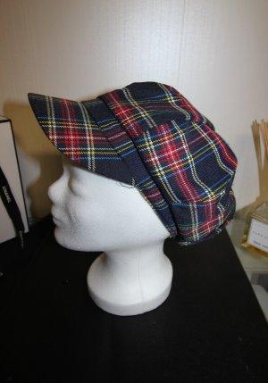 Cappello con visiera blu scuro-rosso