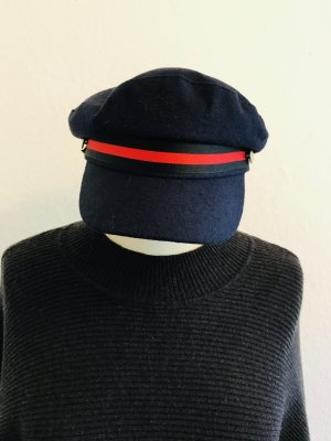 Fabric Hat dark blue-red mixture fibre