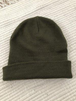 Sombrero de tela verde oscuro-caqui