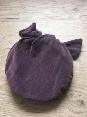 Czapka z tkaniny szaro-liliowy