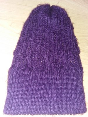 Knitted Hat blackberry-red-lilac