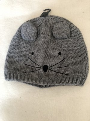 H&M Divided Knitted Hat grey-black