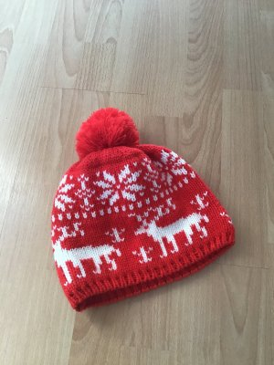 Chiemsee Bobble Hat white-red polyacrylic