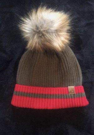 Fur Hat red-taupe
