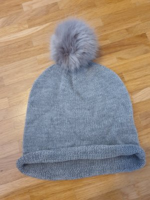 H&M Cappello in tessuto grigio