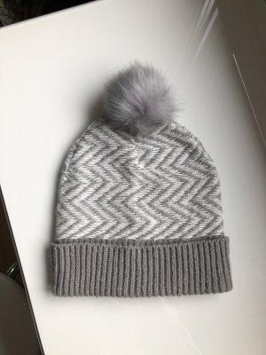 Asos Cappello a maglia grigio chiaro-bianco