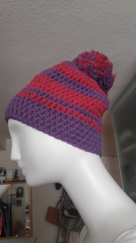 Knitted Hat pink-lilac