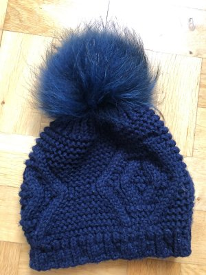 Fur Hat dark blue-blue fur