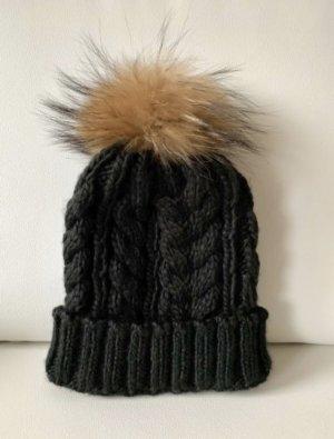 Bonnet noir-marron clair