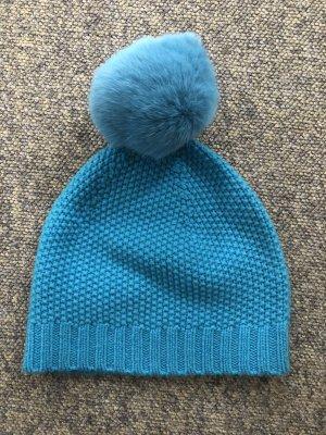 Lamponi Sombrero de piel azul aciano
