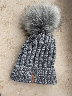 Solbi Sombrero de punto gris
