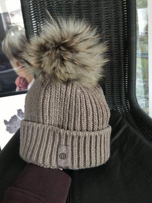 Darling Harbour Bobble Hat camel-grey brown