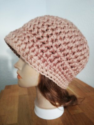 Handgemacht Cappello all'uncinetto marrone chiaro-beige