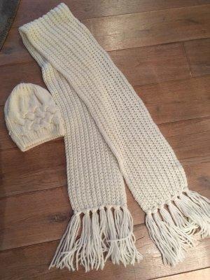 Fraas Chapeau en tricot blanc cassé