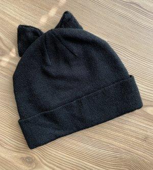 H&M Divided Sombrero de punto negro Acrílico