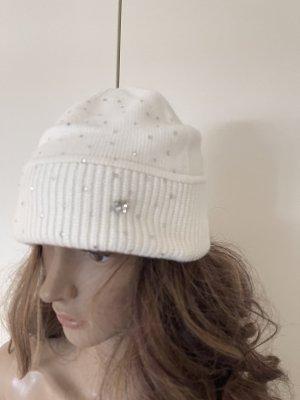 Mütze mit strass Steine Cashmere silk neu ohne Etikett