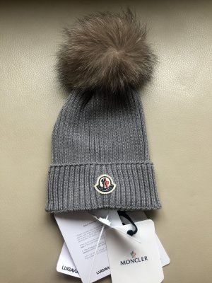 Moncler Cappello a maglia argento Lana