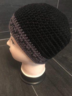 Handmade Crochet Cap black-grey