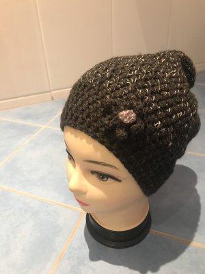 Unikat Einzelstück Crochet Cap anthracite