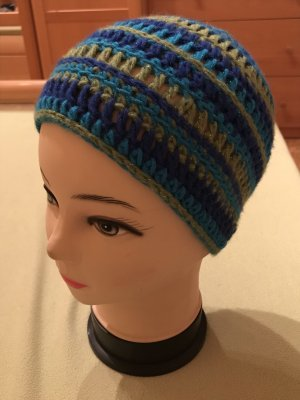 Unikat Einzelstück Cappello all'uncinetto multicolore