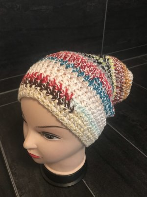 Handmade Cappello all'uncinetto multicolore