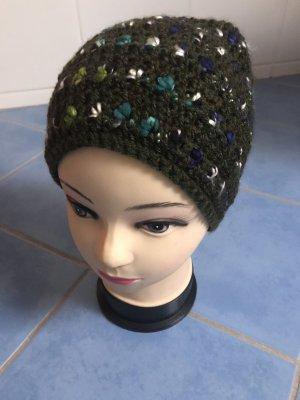Unikat Einzelstück Crochet Cap dark green-forest green