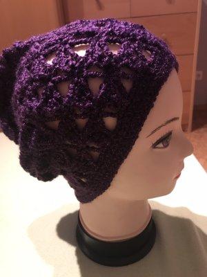 Unikat Einzelstück Crochet Cap brown violet