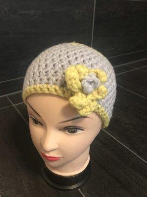 Handmade Crochet Cap primrose-light grey