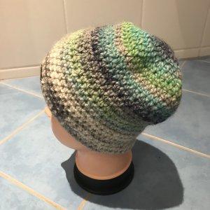 Unikat Einzelstück Bonnet en crochet multicolore