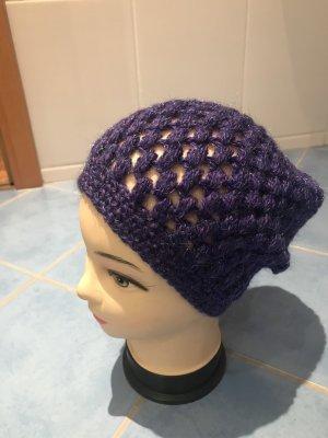 Unikat Einzelstück Crochet Cap dark violet