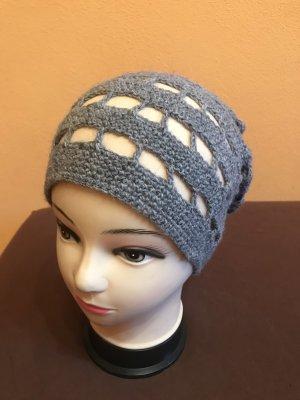 Unikat Einzelstück Crochet Cap grey