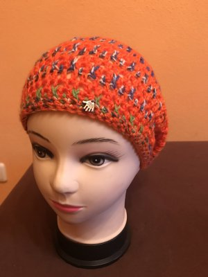 Unikat Einzelstück Crochet Cap dark orange
