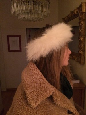 Fur Hat white-natural white
