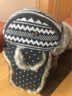 Barts Fur Hat white-grey
