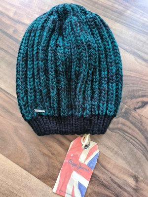 Pepe Jeans Knitted Hat black-cadet blue