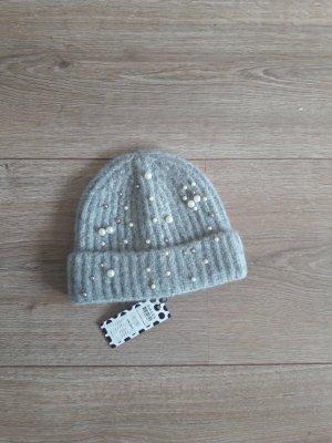 Pieces Sombrero de punto gris claro