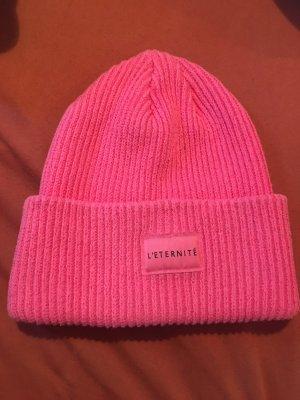 Sombrero de tela rosa neón-rosa