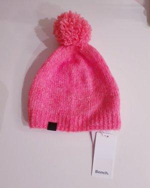 Bench Cappello con pon pon rosa-rosso chiaro