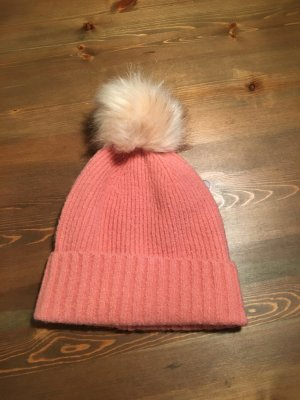 Pieces Bobble Hat pink polyacrylic
