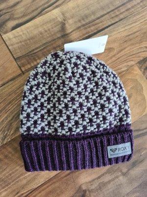 Roxy Cappello a maglia viola scuro