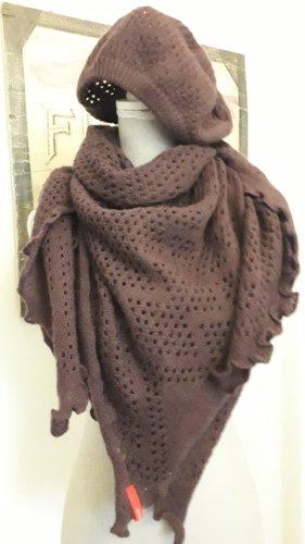 esprit collection Écharpe en tricot rouge mûre